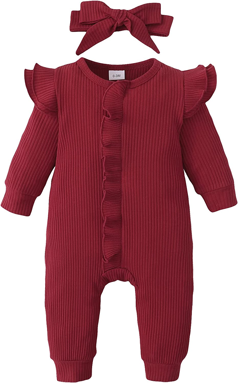ZOEREA Newborn Infant Baby Girl 0-18M Super-cheap Sleeve Romper Long Ruffle Fresno Mall