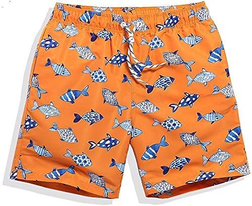 OME&QIUMEI Hommes's plage Holiday Resort en Bord De Pantalons courtes courtes Occasionnels Et Amateurs Lache en été