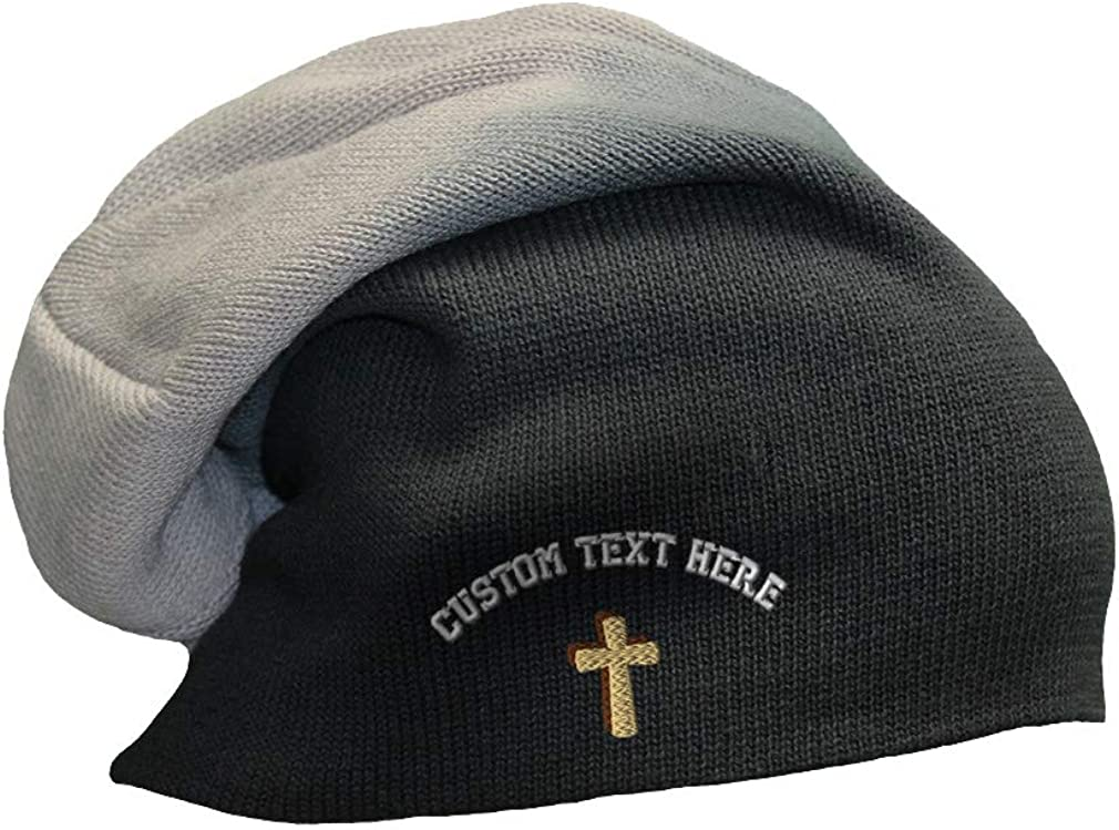 Slouchy Beanie for Max 43% OFF Men Cone Cross Style Embroidery A Shadow 2021 spring and summer new Wome