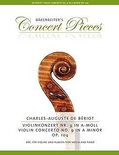 Violin Concerto No.9 in A minor Op.104 (Violin & Piano): Klavierauszug, Stimmen