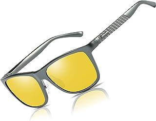 10c00cc7d2f90 Bircen HD Night Vision Driving Anti-Glare Glasses for Men Women Al-Mg Metal