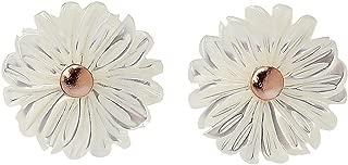 HANFLY Daisy Earrings Tiny Flowers Stud Earrings Sculpture with Shells Earrings