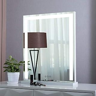 スタンドの自立型化粧台ミラー ハリウッドミラーライトLEDバニティミラーライト 照明器具ストリップ 化粧台用 化粧鏡 (Color : White, Size : A)