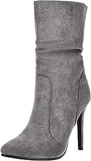RAZAMAZA Women Fashion Stiletto Heels Ankle Boots Pull On