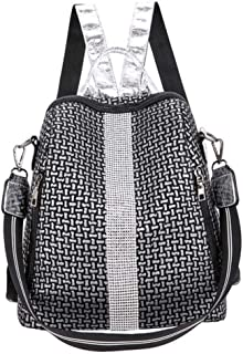 Multifunction Women Backpacks Shoulder Bags Fashion Summer Backpack Leather Women Backpacks Light Lady Large Capacity School Bag,Silver