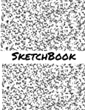 Sketch Book: 8.5 x 11 Large Sketch Book, Black and White Marble Cover, Blank Book for Drawing, Sketching, Doodling, Writing (Notebook, Journal) White Paper, 200 Durable Blank Pages with No Lines