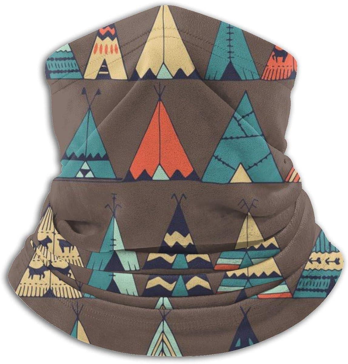 Cute Cartoon Teepee Native American Summer Tent Half Face Mask Balaclava Neck Gaiter Winter Ski Masks for Men Women