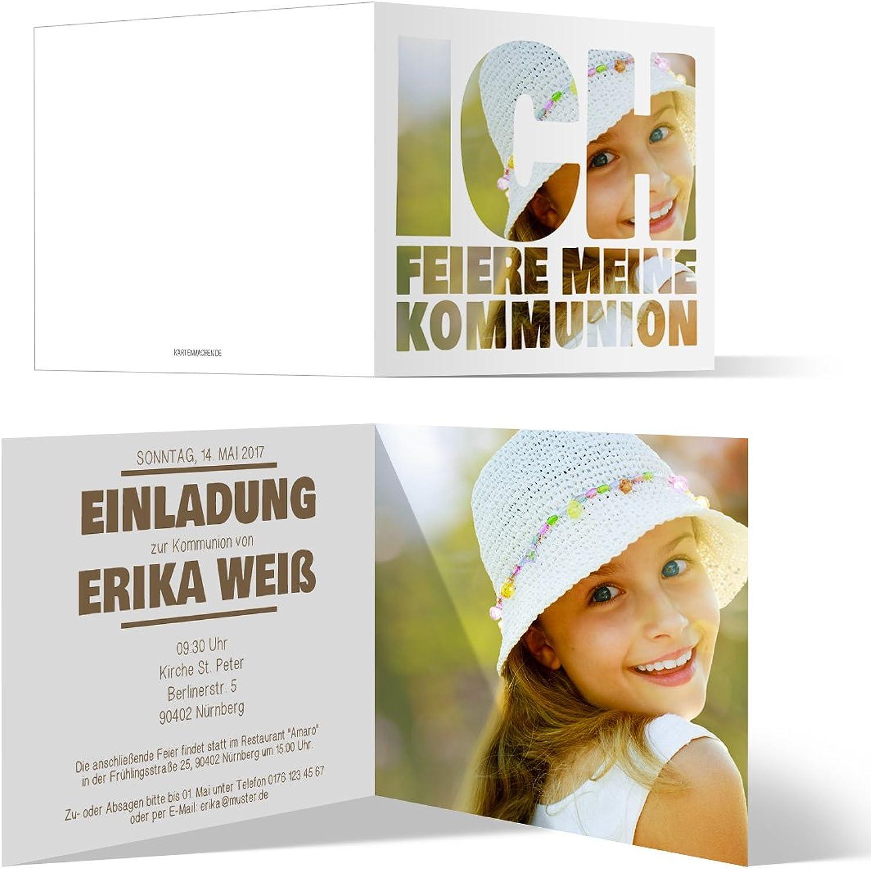 Kommunion Einladungskarten (50 (50 (50 Stück) - Fotoschrift - Kommunionskarten Einladung Klappkarten B06XD3K4QQ | Bestellungen Sind Willkommen  b172d4