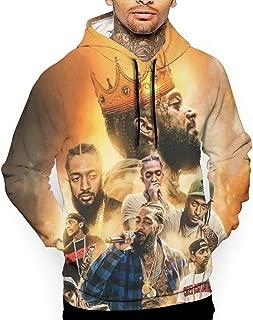 Nip-sey Hussle King Men Long Sleeve Hat Hoodies Double Side Printed Original Sweatshirt Sports Adult Sweater Top