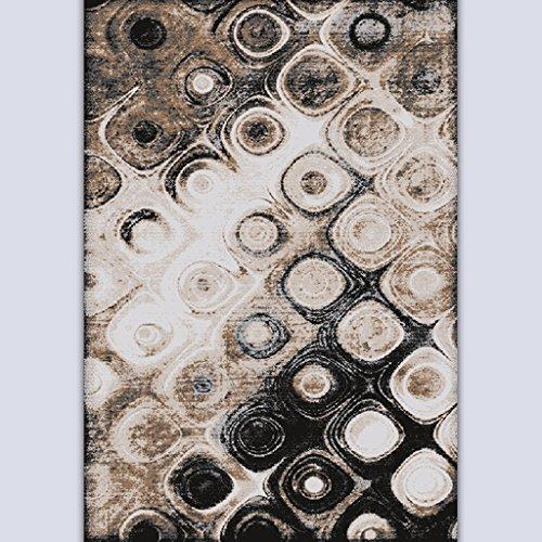 ASL Salle de séjour simple et moderne Table basse Chambre Étude Sofa Process Ink Painting Mash Up Art Thicker plus épais Tapis Tapis sos (Couleur : #2, taille : 90 * 120cm)