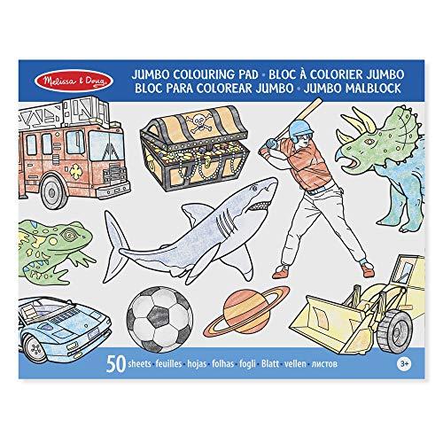 Melissa & Doug 14226 - Blocco XL da colorare, 50 pagine, colore: Blu