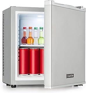 Klarstein Secret Cool Mini Nevera - Clase A+, 13 litros de volumen, 45 cm de altura, 0 dB, Silencioso y sin ruidos, Rango de frío de 5-8 °C, Aislado, Nevera para bebidas, Minibar, Plateada
