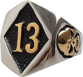 mens lucky 13 rings