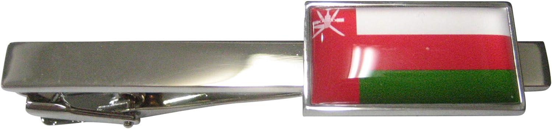 Kiola Designs Thin Bordered Sultanate of Oman Flag Tie Clip