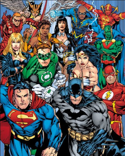 Nosoloposters GB Eye, DC Comics, Justice League Collage, Mini Poster 40x50cm