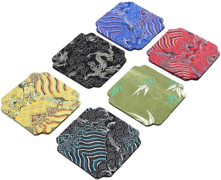 Max 51% OFF Drink Coasters Japanese Zen Cotton Coaster Art service Tea C Linen