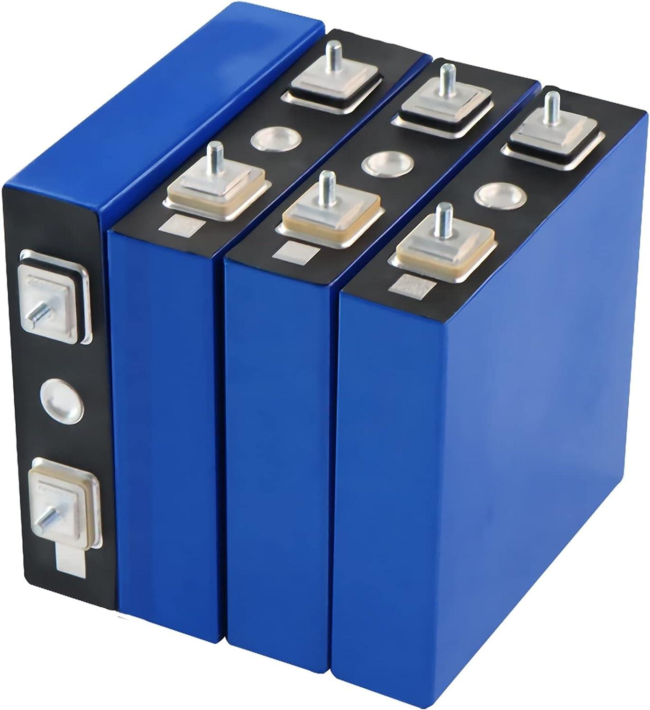 ASD321 4/8 / 16Pcs 3.2V 100Ah LIFEPO4 Batería De Batería Litio Hierro Fosfato Potencia De Batería Célula Solar Coche Eléctrico LIFEPO4 Cargador De Batería (Color : Blue, Size : 4pcs 12v 100ah)