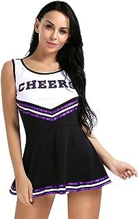 fdd8d8f6b2 YiZYiF Women's Musical Uniform Fancy Dress High School Cheerleader Costume  Outfits
