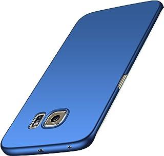 anccer Funda Samsung Galaxy S6 Edge [Serie Colorida] [Ultra-Delgado] [Ligera] Anti-rasguños Estuche para Samsung Galaxy S6 Edge (Azul Liso)