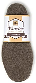 Warrior Alpaca Socks - 100% Alpaca Wool Felted Insoles & Liners for Shoes & Boots, 1PAIR - Stay Warm/Cool Naturally - Cut to Size Your Custom Fit. (Small)