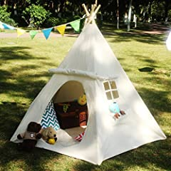 A FREE PLACE FOR KIDS - For kids, a free place gives them a sense of security and space for self-development. Lavievert's children Teepee is constructed with 100% cotton canvas and 5 premium fumigated pine poles, being mothproof and mildewproof. With...