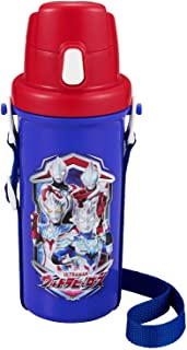 OSK マグボトル 直飲み水筒 ウルトラヒーローズ 600ml [ワンタッチオープン/広口] 日本製 SC-600B