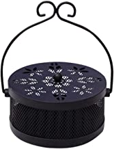 House of Quirk Mosquito Coil Holder Classical Design Portable Metal Incense Holder - Black
