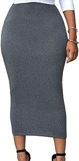 Eiffel Women's High Waist Slim Bodycon Party Club Night Out Maxi Long Pencil Skirts