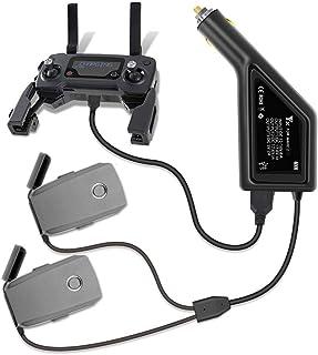 Tineer 3in1 Batterie Auto Ladegerät mit USB Port Fernbedienung, Smartphone und Tablet Ladegerät für DJI Mavic 2 PRO & Zoom Drone Zubehör