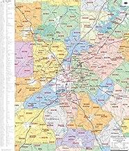 Metro Atlanta Zip Code Wall Map Laminated 2019 Map