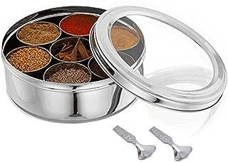 Transparent masala box ,Stainless Steel Masala Box,masala box container,masala box,spices container box ,spices box,spices storage box,spices storage container,Indian Masala box,spice box set,