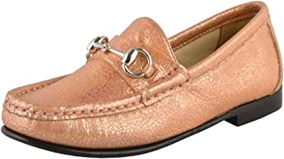 b1e3a6a42e5 Gucci Girl s Sparkle Leather Horsebit Loafer Shoes
