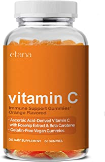 Etana — Vitamin C Gummies — with Rosehip Extract & Beta Carotene — Immune Support Gummy Supplement - 60 ct. — Gelatin-Free...
