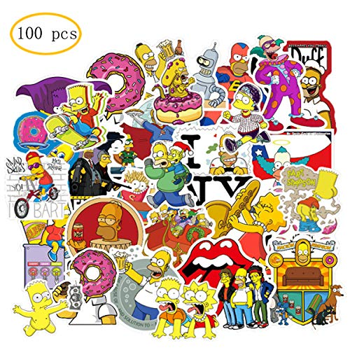 BATTER 100PCS The Simpson Stickers Laptop Sticker Waterproof Vinyl Stickers Car Sticker Motorcycle Bicycle Luggage Decal Graffiti Patches Skateboard Water Bottle Sticker