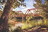 Eisenbahn Zug Brücke Fluss XXL Wandbild Kunstdruck Foto