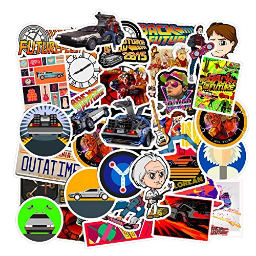 WYDML Movie Back To The Future Sticker Bag In Laptop Refrigerator Phone Skateboard Travel Suitcase Sticker Sticker 50Pcs