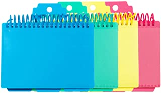 C-Line Spiral Bound Index Card Notebook with Tabs, Includes 60 Ruled 3 x 5 Inch Index Cards, 1 Notebook, Color May Vary (4...