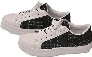 Générique Basket Femme A Lacets - Blanc/Noir