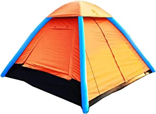 IHUNIU, INC. 4 Person Inflatable Camping Air Tent pop up Waterproof for Beach,Camp,Travel,Hiking,Survival with Air Pump