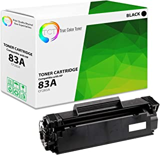 TCT Premium Compatible Toner Cartridge Replacement for HP 83A CF283A Black Works with HP Laserjet Pro MFP M125 M126 M127 M128 M225 M201 M202 Printers (1,500 Pages)