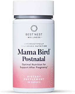 Mama Bird Postnatal Multi+, Once Daily, Whole Food Organic Blend, L-Methylfolate (Folic Acid), Methylcobala...