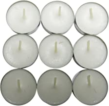 CandleNScent Unscented Tealight Candles, 30 Pack, White, Made in USA