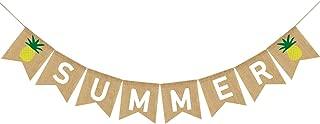Summer Banner Burlap, Summer Pineapple Decorations, Summer Decorations, Summer Party Decorations, Summer Party Supplies