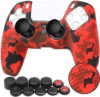 Accesorios de piel de silicona para PS5 DualSense Controller Piel del controladorPS5 x 1con agarre para el pulgar x ...