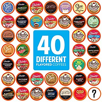 Two Rivers Coffee Flavored Coffee Pods Compatible with Keurig K Cup Brewers Assorted Flavored Coffee 40 Count