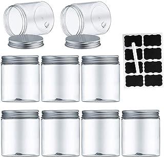 Aoligei Bocaux en Plastique 9 Pcs, Bocal de Stockage, Réservoir de stockage en plastique pour aliments secs et slime, sans...