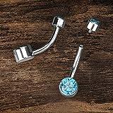 Zoom IMG-2 oufer 14g 10mm titanio piercing