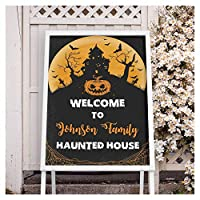 Image: Haunted House Welcome Halloween Sign Size 24x18, 36x24 and 48x36 Customized Halloween Party Poster Welcoming Banner Fright Night Parties Theme | Visit the SPEEDYORDERS Store