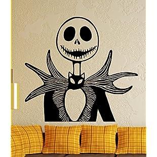 Wall Sticker Jack Skellington-Nightmare Before Christmas, Vinyl, black, Medium