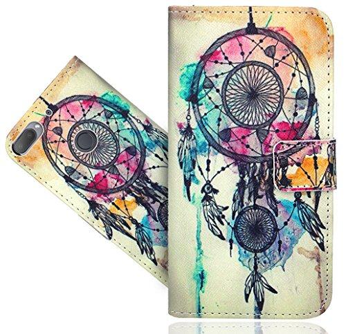 HTC Desire 12 Plus / Desire 12+ Handy Tasche, FoneExpert® Wallet Hülle Flip Cover Hüllen Etui Hülle Ledertasche Lederhülle Schutzhülle Für HTC Desire 12 Plus / Desire 12+